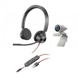 Poly Studio P5 with Blackwire 3325 [USB-A] - Профессиональная веб-камера и проводная стереогарнитура (Polycom)