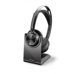 Poly VOYAGER FOCUS 2-M [213727-02] - Bluetooth гарнитура, stereo, с зарядной поставкой, USB-A (Plantronics)